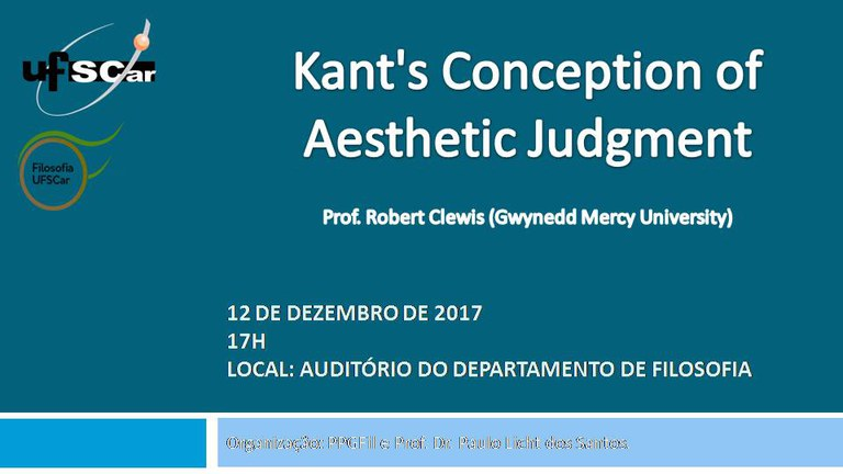 Cartaz - Kant's Conception of Aesthetic Judgment