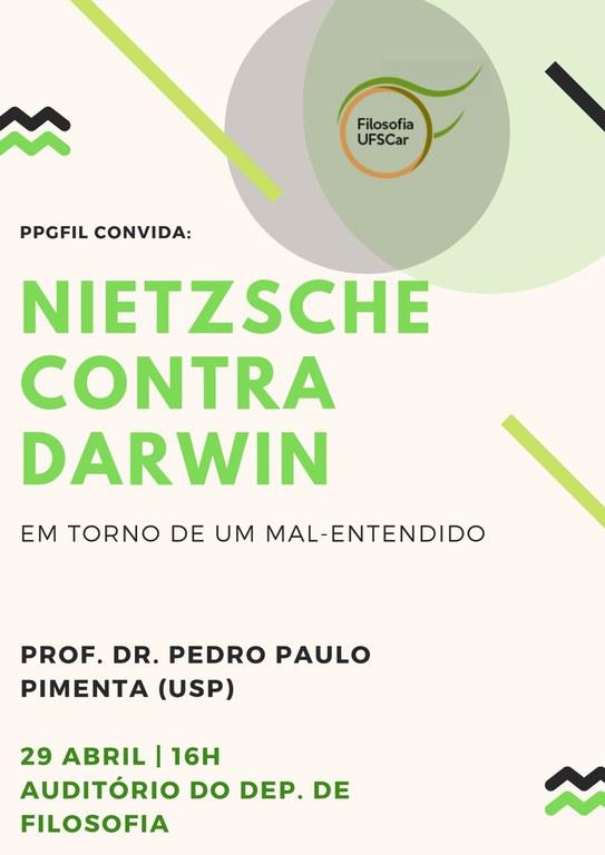 Cartaz - Nietzsche contra Darwin