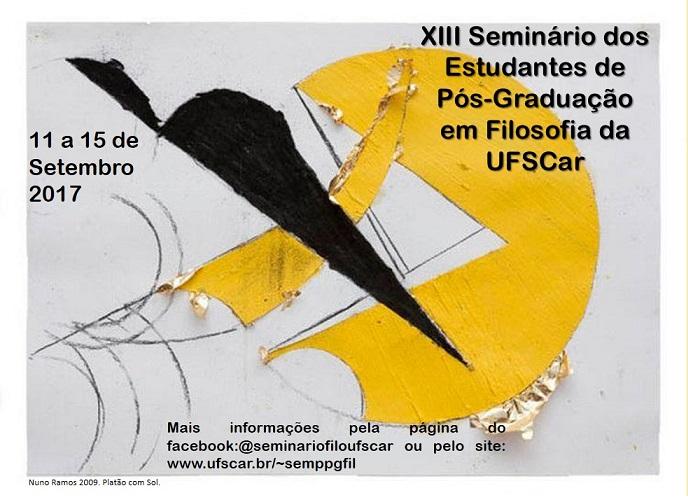 XIII Seminário dos Estudantes de Pós-Graduação em Filosofia da UFSCar