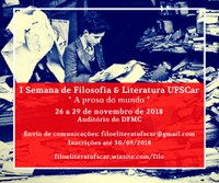 I Semana de Filosofia & Literatura UFSCar