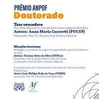 Tese defendida no PPGFil/UFSCar recebe menção honrosa no Prêmio Anpof 2020